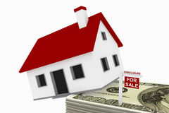 Ejecución de una hipoteca stock de ilustración