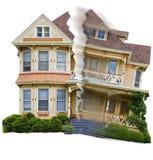 Ejecución de una hipoteca de la bancarrota foto de archivo libre de regalías
