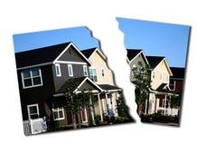 Ejecución de una hipoteca del derrumbamiento de la hipoteca Foto de archivo