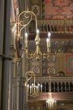 Ejecución decorativa de la lámpara en la pared en el coral de la sinagoga en la ejecución de la lámpara de BuDecorative en la par Imágenes de archivo libres de regalías