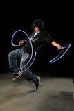 Ejecución del bailarín de Hip Hop fotografía de archivo libre de regalías