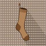 Ejecución del calcetín de Brown Fotos de archivo libres de regalías