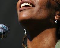 Ejecución del cantante Imagen de archivo libre de regalías