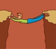 Ejecución del hombre en una posición dura libre illustration