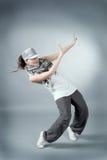 Ejecución femenina del salto de la cadera Fotografía de archivo libre de regalías