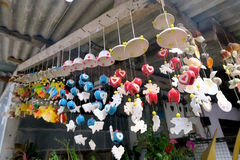 Ejecución móvil de la concha marina de Colorfull de un tejado Fotografía de archivo libre de regalías