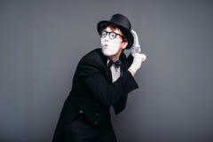 Ejecución masculina de la diversión del actor de la pantomima Imagen de archivo