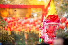 Ejecución tailandesa de la serpiente y de la linterna por el Año Nuevo chino Celebratio Fotografía de archivo