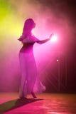 Ejecución de la bailarina de la danza del vientre Imágenes de archivo libres de regalías