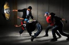 Ejecución de los hombres de Hip Hop Imagen de archivo