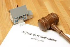 Ejecución de una hipoteca Foto de archivo libre de regalías