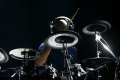 Artista Omar Hakim del batería Fotografía de archivo libre de regalías