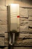 Ejecución moderna del teléfono de casa en la pared Fotografía de archivo