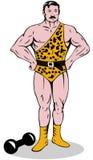 Ejecutante de circo del hombre fuerte ilustración del vector
