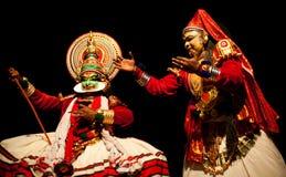 Ejecutante de Kathakali Fotos de archivo libres de regalías