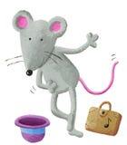 Ejecutante de la calle del ratón Fotografía de archivo libre de regalías