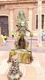 Ejecutante de la calle en Barcelona, España Fotografía de archivo