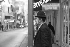 Ejecutante de la calle en el barrio francés, New Orleans Imagenes de archivo