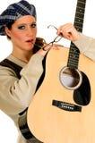 Ejecutante de la música, guitarra Imagen de archivo libre de regalías