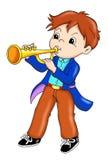Ejecutante de la trompeta ilustración del vector