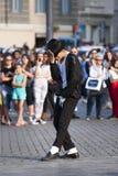 Ejecutante de Michael Jackson Billie Jean Imagenes de archivo
