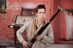 Ejecutante del Bassoon Fotografía de archivo