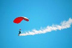 Ejecutante del paracaídas Fotos de archivo libres de regalías