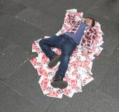 Ejecutante en el festival de la franja de Edimburgo Fotografía de archivo libre de regalías