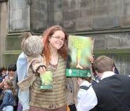 Ejecutante en el festival de la franja de Edimburgo Imagen de archivo