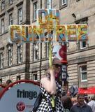 Ejecutante en el festival 2015 de la franja de Edimburgo Foto de archivo libre de regalías