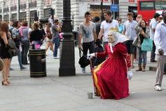 Ejecutante Londres Inglaterra de la calle Fotografía de archivo