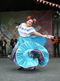 Ejecutante mexicano de la mujer Fotografía de archivo
