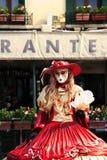 Ejecutante veneciano de la calle Fotos de archivo libres de regalías