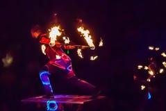 Ejecutantes de circo Foto de archivo libre de regalías