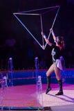 Ejecutantes de circo Foto de archivo