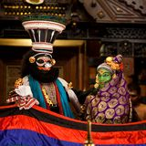 Ejecutantes de Kathakali Fotografía de archivo