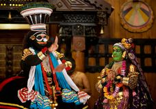 Ejecutantes de Kathakali Fotografía de archivo libre de regalías