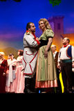 Ejecutantes de la ópera Foto de archivo