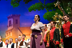 Ejecutantes de la ópera Fotos de archivo libres de regalías