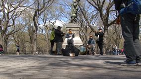 Ejecutantes de la calle, Central Park, NYC metrajes