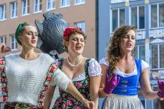 Ejecutantes de la calle de Munich Fotografía de archivo libre de regalías