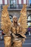 Ejecutantes de la calle en Barcelona Imágenes de archivo libres de regalías