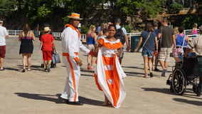 Ejecutantes de la calle, La Romana, República Dominicana Fotos de archivo libres de regalías