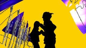 Ejecutantes de la danza de la demostración de la animación