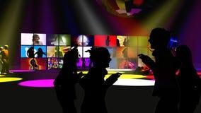 Ejecutantes de la danza en un club de noche