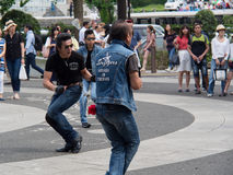 Ejecutantes del Rockabilly en el parque 2 de Yoyogi Foto de archivo libre de regalías