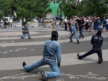 Ejecutantes del Rockabilly en el parque 5 de Yoyogi Imágenes de archivo libres de regalías