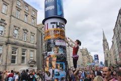 Ejecutantes en el festival de Edimburgo Fotografía de archivo