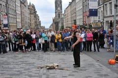 Ejecutantes en el festival de Edimburgo Imagen de archivo libre de regalías