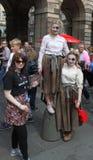 Ejecutantes en el festival 2015 de la franja de Edimburgo Fotos de archivo libres de regalías
